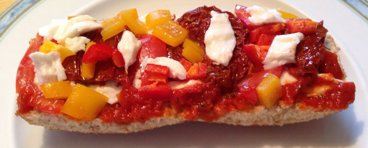 Low Fat Tomaten Mozarella Ciabatta