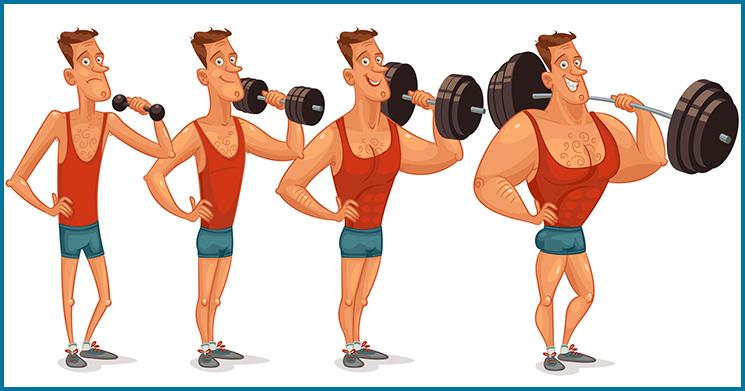 Gewichtszunahme zunehmen
