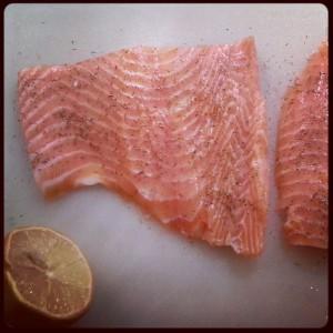 Muskelaufbau Ernährung - Lachsfilet