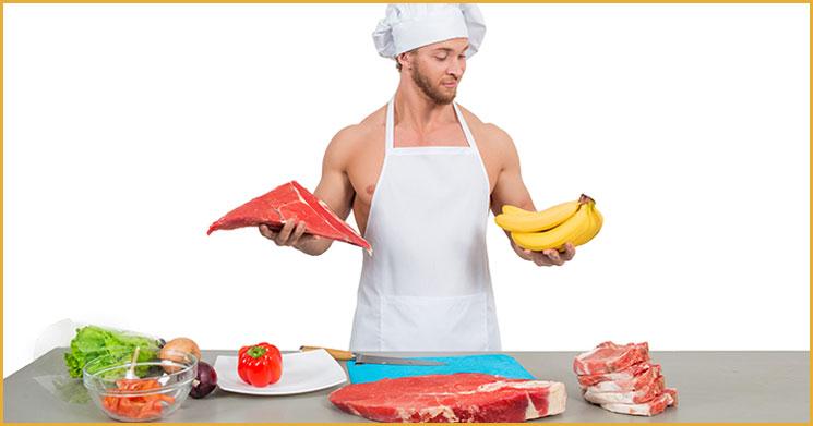 Muskelaufbau Mittagessen