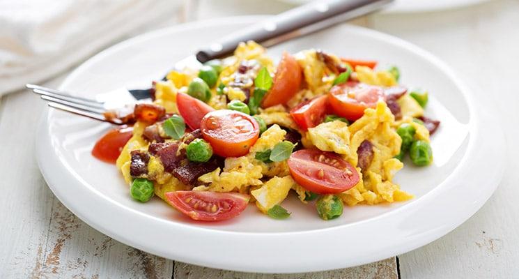 Fitness Rezept Rührei mit Gemüse