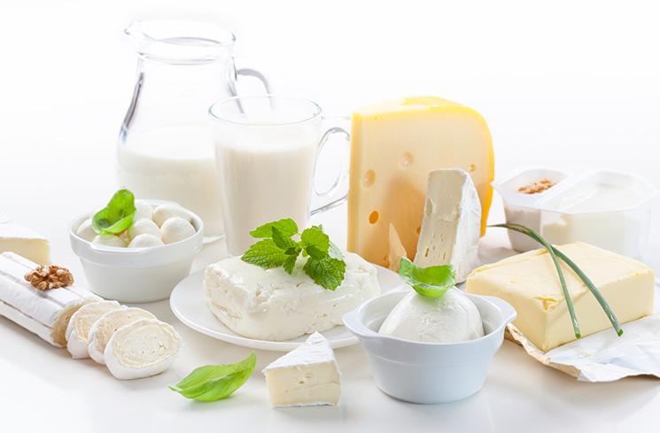 gesunde Milchprodukte