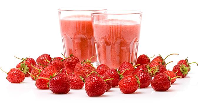 Protein Smoothie Erdbeer