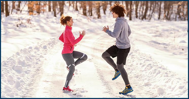 joggen im Winter