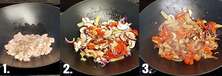 Curry-Hähnchen Zubereitung