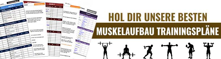 Muskelaufbau Trainingspläne
