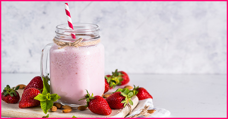 Erdbeer Protein Smoothie