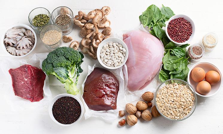 Lebensmittel mit viel Eisen
