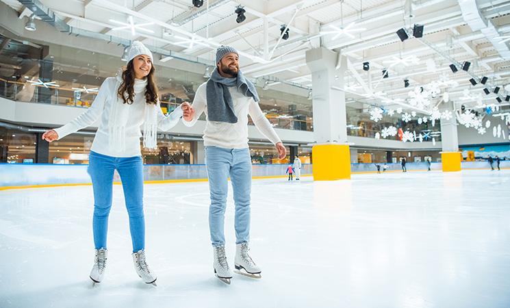 Wintersport-Eislaufen