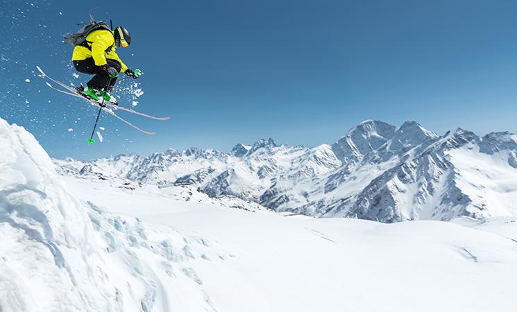 Sport im Winter Ski Fahren