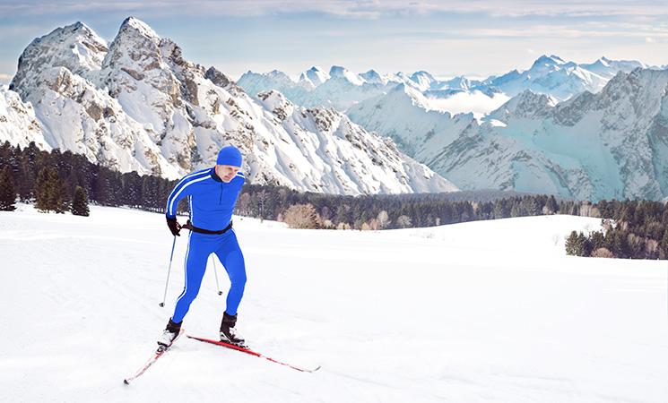 Wintersport Ski-Langlaufen