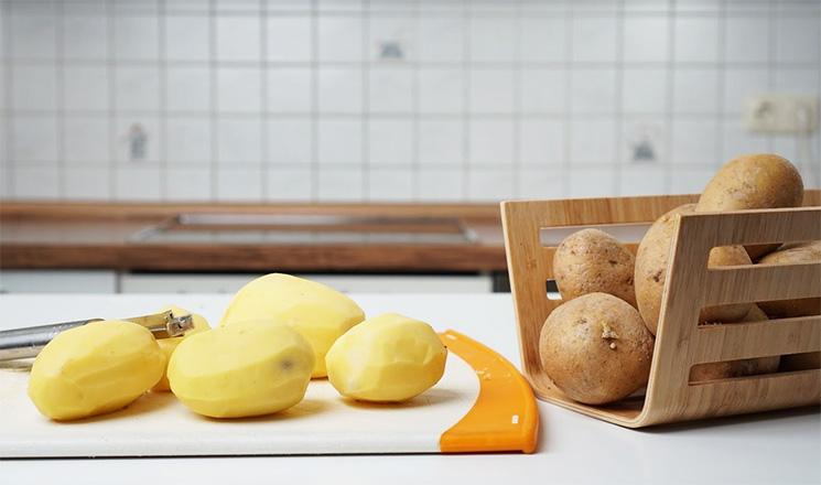 Kartoffel geschält